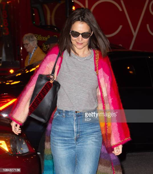 Katie Holmes celebrate Katie Holmes' 40th Birthday at Serendipity on December 18 2018 in New York City