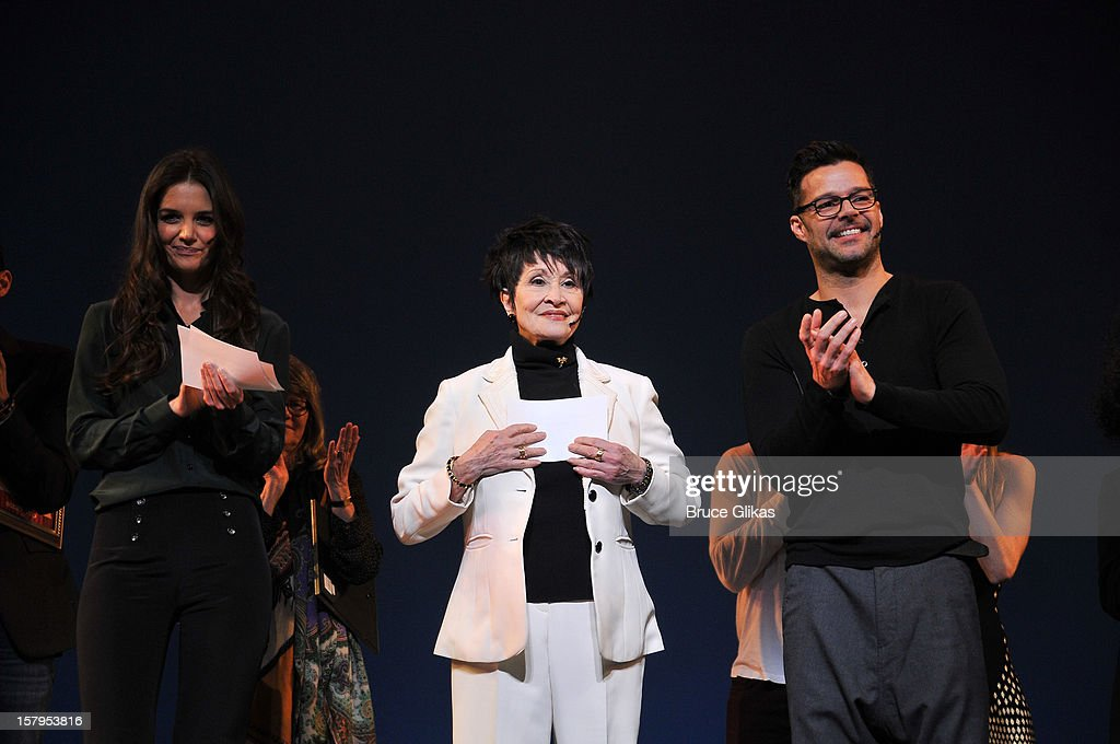 Katie Holmes, Chita Rivera and Ricky Martin host the 2012 Gypsy Of The Year Competition benefitting Broadway Cares Equity Fights AIDS at The New Amsterdam Theatre on December 7, 2012 in New York City.