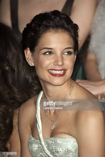 Katie Holmes during Paris Fashion Week Haute Couture Spring/Summer 2007 Giorgio Armani Prive Front Row and Arrivals at Musee d'Art Moderne Palais De...