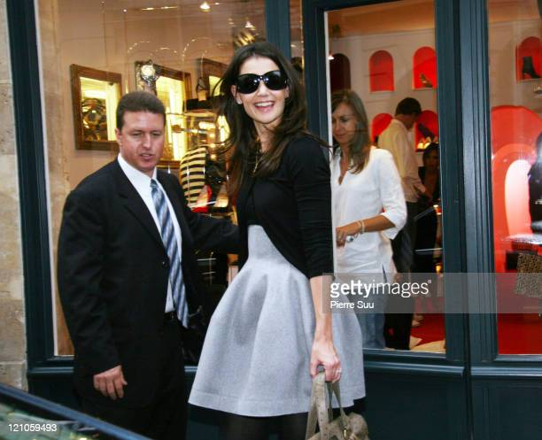 Katie Holmes during Victoria Beckham and Katie Holmes Shopping in Paris October 6 2006 at Paris in Paris France