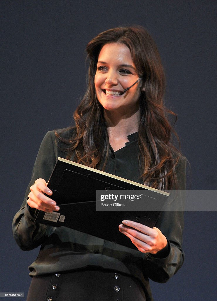 Katie Holmes hosts the 2012 Gypsy Of The Year Competition benefitting Broadway Cares Equity Fights AIDS at The New Amsterdam Theatre on December 7, 2012 in New York City.