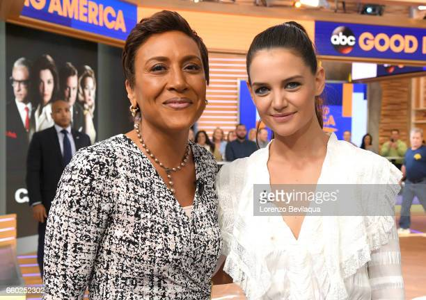 AMERICA Katie Holmes is a guest on 'Good Morning America' Wednesday March 29 airing on the ABC Television Network ROBIN