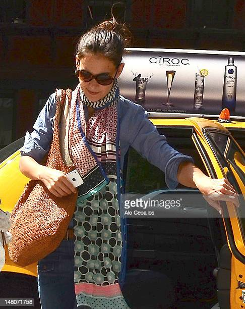 Katie Holmes is seen entering the Children's Museum Of The Arts on July 9 2012 in New York City