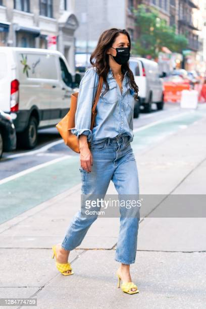 Katie Holmes is seen in Chelsea on November 09, 2020 in New York City.