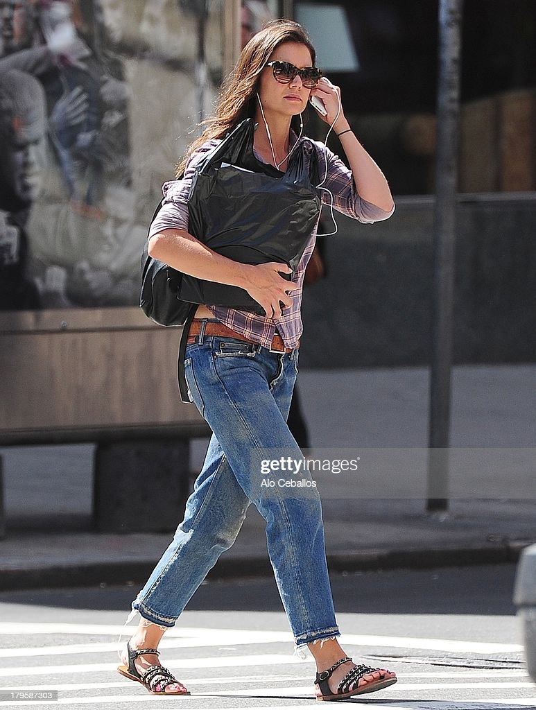 Katie Holmes is seen in Chelsea on September 5, 2013 in New York City.