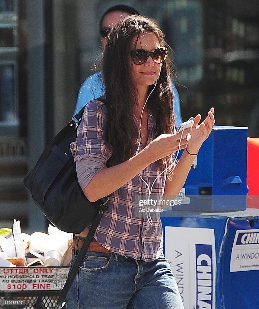 Katie Holmes is seen in Chelsea on September 5, 2013 in New York City.