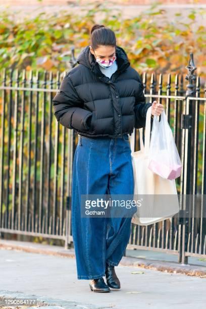 Katie Holmes is seen in SoHo on December 10, 2020 in New York City.