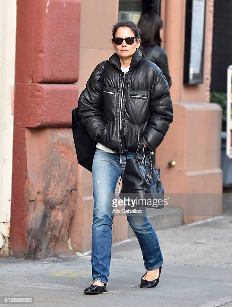 Katie Holmes is seen in Soho on March 21 2016 in New York City