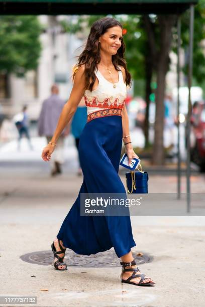 Katie Holmes is seen in the Upper West Side on September 28, 2019 in New York City.