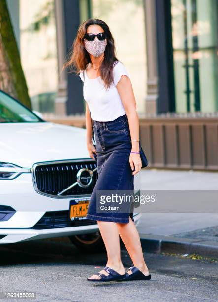 Katie Holmes is seen on August 02 2020 in New York City