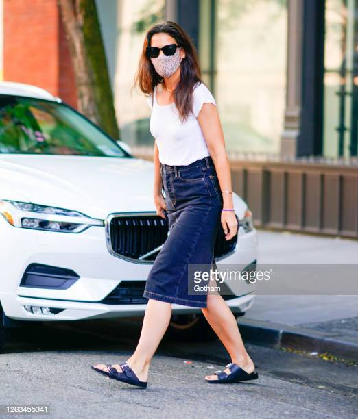 Katie Holmes is seen on August 02, 2020 in New York City.