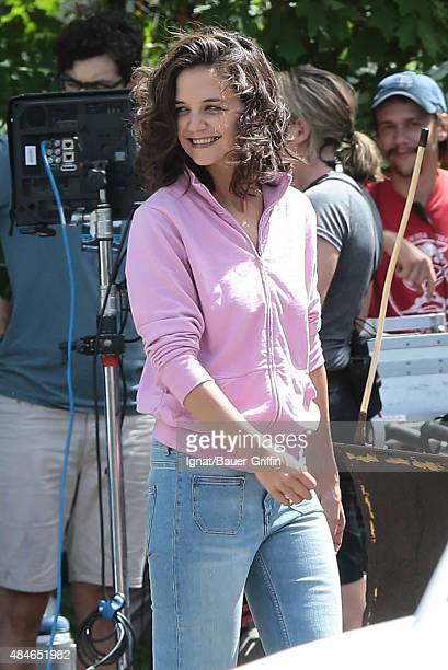 Katie Holmes is seen on the set of 'All We Had' on August 20 2015 in New York City