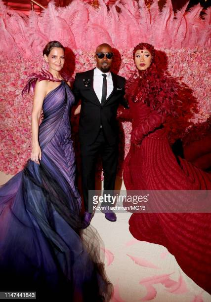 Katie Holmes Jamie Foxx and Cardi B attend The 2019 Met Gala Celebrating Camp Notes on Fashion at Metropolitan Museum of Art on May 06 2019 in New...