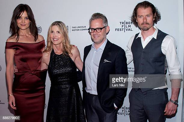 Katie Holmes Karen Leigh Hopkins Rob Carliner and James Badge Dale attend the Miss Meadows screening at the SVA Theater in New York City © LAN