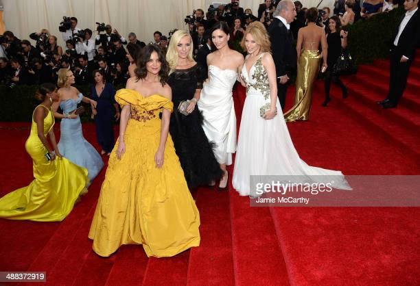 Katie Holmes Keren Craig Georgina Chapman and Kylie Minogue attend the Charles James Beyond Fashion Costume Institute Gala at the Metropolitan Museum...