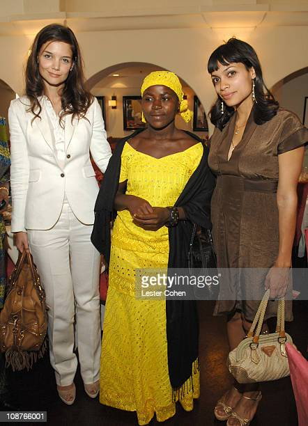 Katie Holmes Margaret Jayah and Rosario Dawson during VDay and Glamour Honor Women in Conflict Zones Working For Peace at Campanile in Los Angeles...