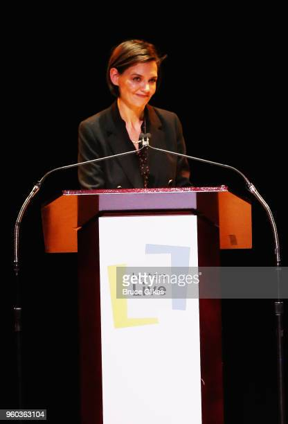Katie Holmes performs in the New York debut of the hit show 'Letters Live' at Town Hall on May 19 2018 in New York City