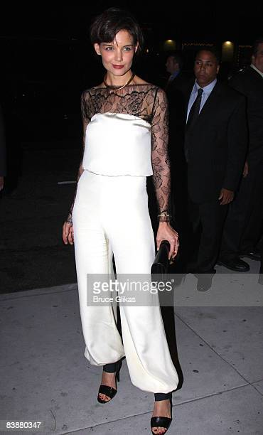 Katie Holmes poses at the after party for the opening night of the revival of Arthur Miller's All My Sons on Broadway at espace on October 16 2008 in...