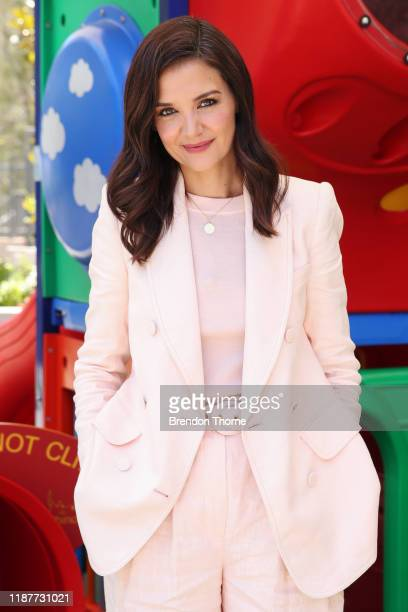 Katie Holmes poses during a visit to Ronald McDonald House Westmead on November 15, 2019 in Sydney, Australia.