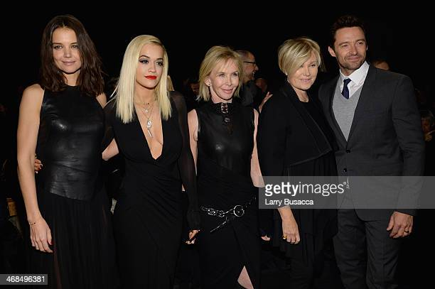 Katie Holmes Rita Ora Trudie Styler DeborraLee Furness and Hugh Jackman attend the Donna Karan New York 30th Anniversary fashion show during...