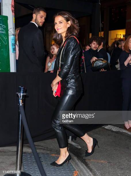 Katie Holmes seen at Chanel Tribeca Film Festival dinner at Balthazar on April 29 2019 in New York City