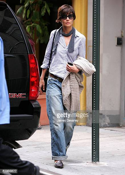 Katie Holmes seen on the streets of Manhattan on August 13 2008 in New York City