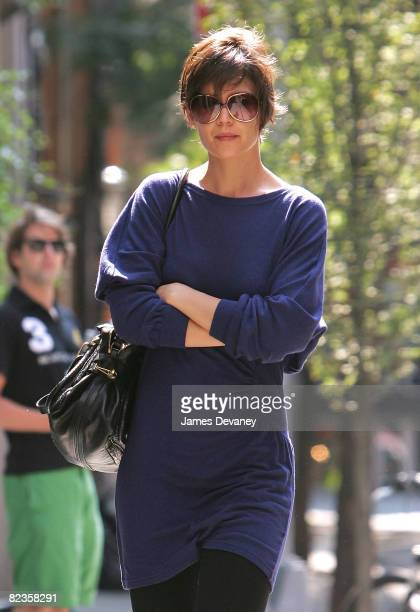 Katie Holmes seen on the streets of Manhattan on August 14 2008 in New York City
