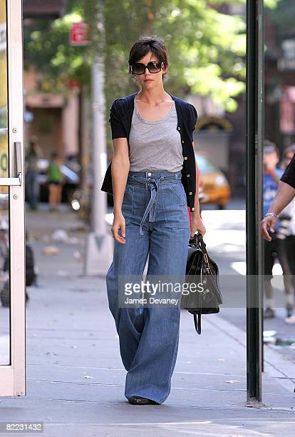 Katie Holmes seen on the streets of Manhattan on August 9 2008 in New York City