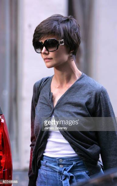 Katie Holmes seen on the streets of Manhattan on August 9, 2008 in New York City.