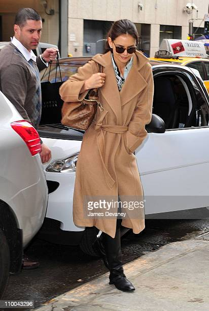 Katie Holmes seen on the streets of Manhattan on March 11 2011 in New York City