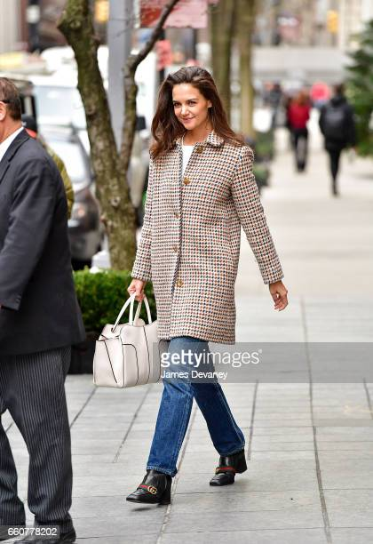 Katie Holmes seen on the streets of Manhattan on March 30 2017 in New York City