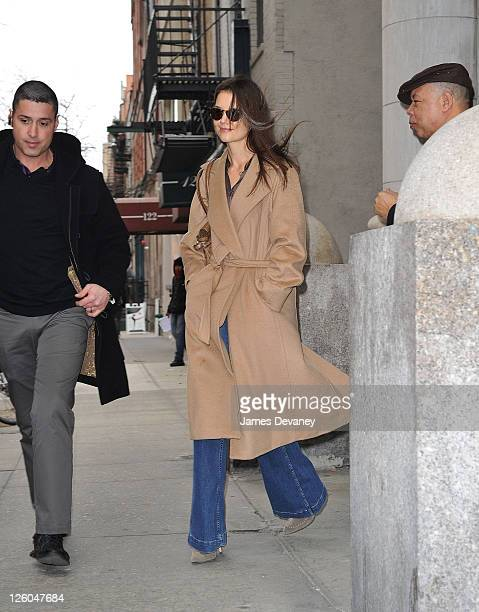 Katie Holmes seen on the streets of Manhattan on March 9 2011 in New York City
