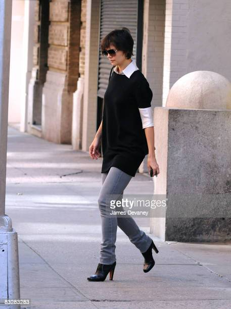 Katie Holmes seen on the streets of Manhattan on October 15 2008 in New York City