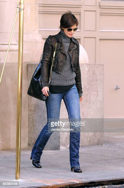 Katie Holmes seen on the streets of Manhattan on October 22 2008 in New York City
