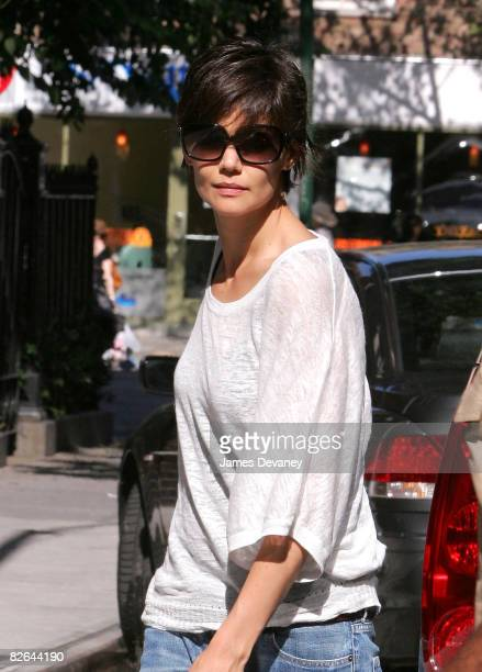 Katie Holmes seen on the streets of Manhattan on September 2, 2008 in New York City.