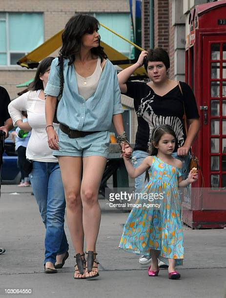 Katie Holmes Suri Cruise and Isabella Jane Cruise seen on the streets of Toronto on July 18 2010 in Toronto Ontario Canada