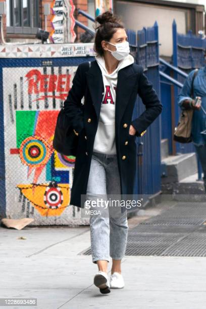 Katie Holmes takes a walk on September 24, 2020 in New York City, New York.