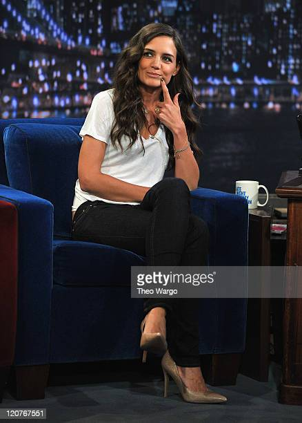 Katie Holmes visits Late Night With Jimmy Fallon at Rockefeller Center on August 9 2011 in New York City