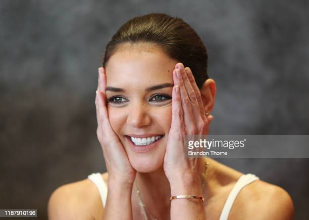 Katie Holmes visits McDonald's Haberfield for McHappy Day on November 16, 2019 in Sydney, Australia.
