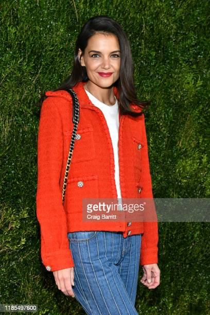 Katie Holmes wearing Chanel attends Through Her Lens The Tribeca CHANEL Women's Filmmaker Program Luncheon at Locanda Verde on November 04 2019 in...