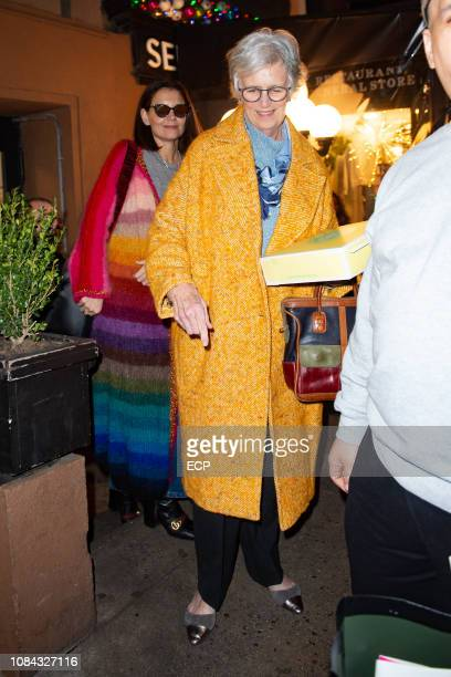 Katie Holmes with mom Kathleen celebrate Katie Holmes' 40th Birthday at Serendipity on December 18 2018 in New York City