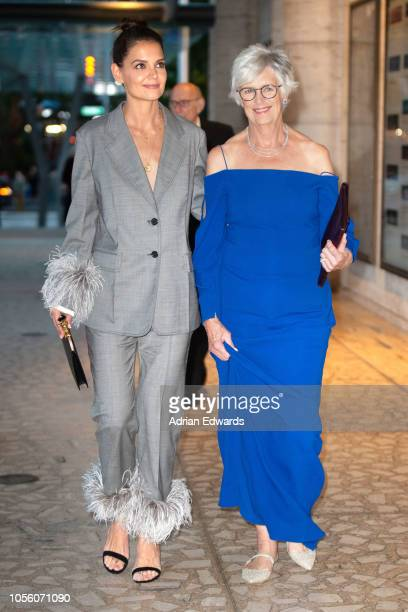 Katie Holmes with mother Kathleen Holmes seen on October 17 2018 in New York City