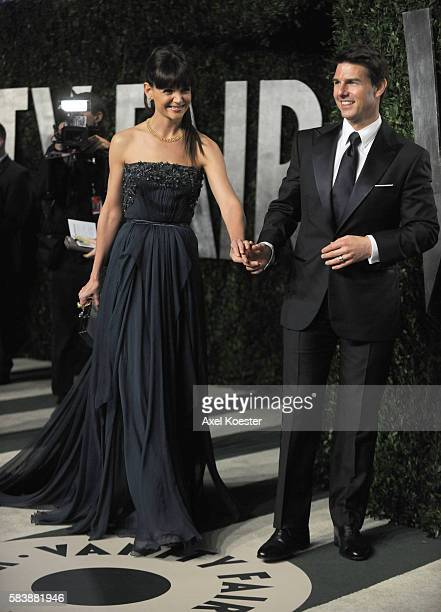Katie Holms and Tom Cruise arrive to the Vanity Fair after party of the 84th Academy Awards, hosted by Graydon Carter at the Sunset Tower Hotel...