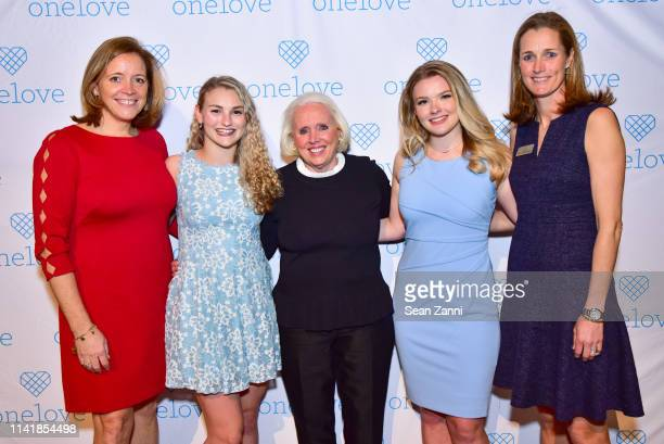 Katie Hood Kelsey Kempner Sharon Love Julia Hussey and Sharon Robinson attend The One Love Foundation's One Night for One Love at Cipriani 42nd...