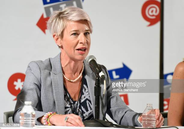 Katie Hopkins at 'Sex, Presidents & Handmaids Hosted by Lady Freak' panel during Politicon at Pasadena Convention Center on July 29, 2017 in...
