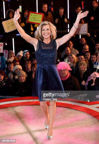 Katie Hopkins is evicted from the Celebrity Big Brother house at Elstree Studios on February 6 2015 in Borehamwood England