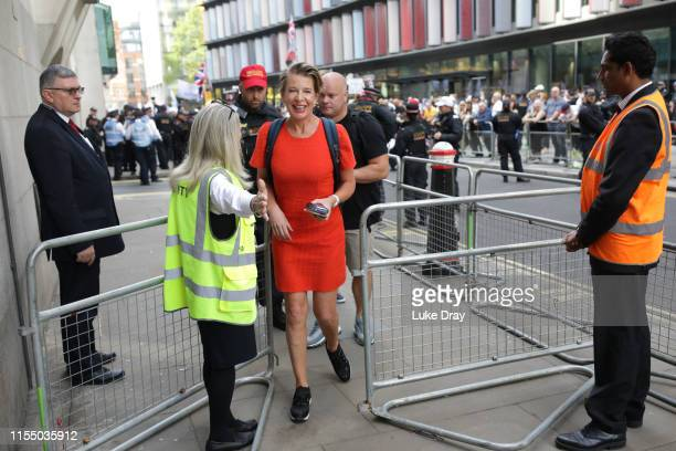 Katie Hopkins is seen as British far-right activist and former leader and founder of English Defence League , Tommy Robinson, whose real name is...
