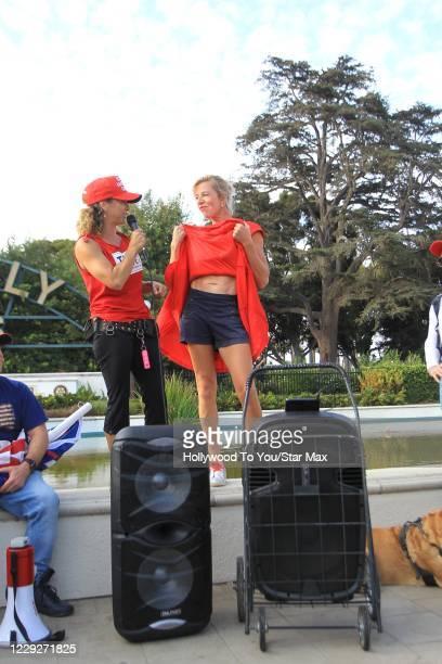 Katie Hopkins is seen on October 24, 2020 in Los Angeles, California.