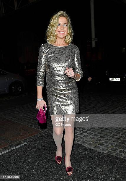 Katie Hopkins leaves The BGBT Awards held at The Landmark Hotel on April 24 2015 in London England