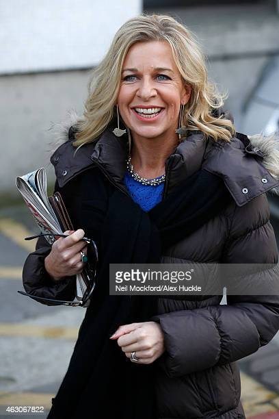 Katie Hopkins seen leaving the ITV Studios after an appearance on 'Loose Women' on February 9 2015 in London England